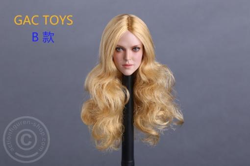 Female Head - blond long Hair