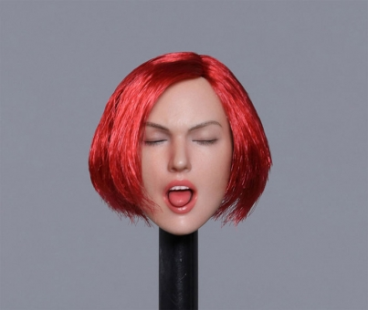 Female Head w/ closed Eyes - red hair