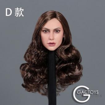 Female Head long curly brown Hair