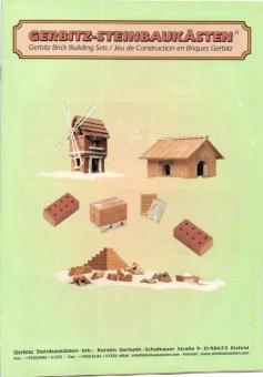 Gerbitz-Steinbaukästen Katalog