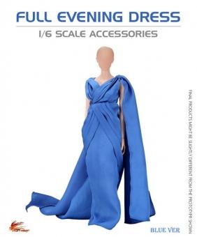 Grand Evening Full Robe Dress - Blue