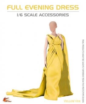 Grand Evening Full Robe Dress - Yellow