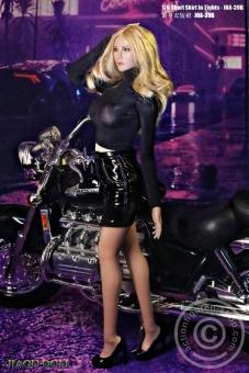 Short Skirt and Top Set - black