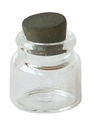 Glasbehälter mit Korken, 20 x 18mm