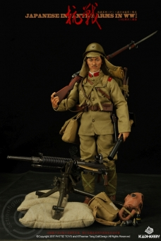 WWII Japanese Infantry Soldier w/ Heavy MG Typ 92