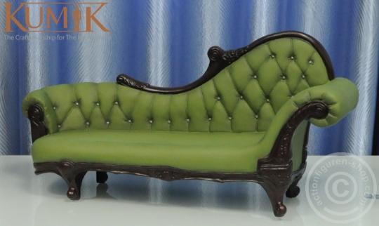 Chesterfield Sofa - grün/braun