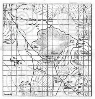 US Landkarte Italien WW-II - s/w
