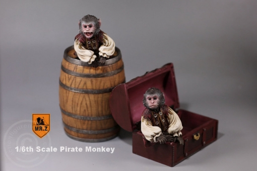 Pirate Monkey Statue Set