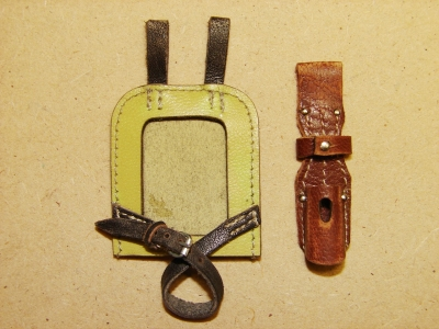 Leather E-tool Carrying & Bayonet Frog - sand