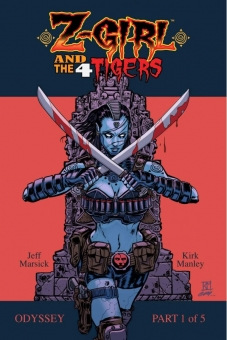 Z-Girl and the 4 Tigers - comic book