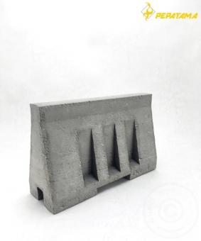 Concrete Barrier - Paper Diorama