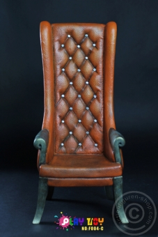 High Back Chair - Brown