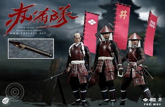 Ashigaru - Spear + Bow + Teppo - 3 Figure Deluxe Set
