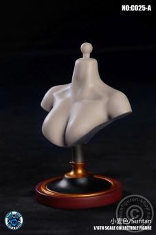 Female Bust Stand - Suntan