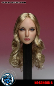 Female Head - long curly blond Hair