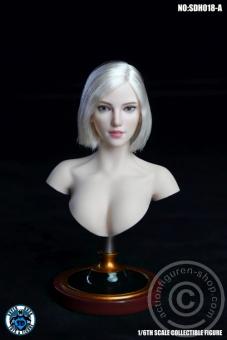 Female Head - blond short Hair