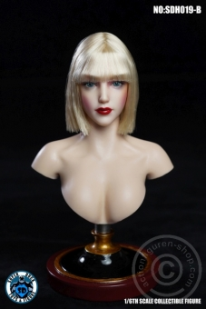 Female Head - gold-blond mid-long Hair