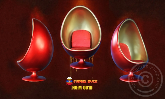 Egg Chair - rot/gold