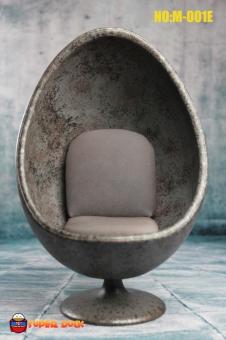 Egg Chair - marble-blue/grey