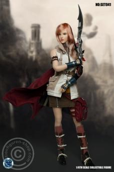 Fantasy Warrior Cosplay - Bekleidungs-Set mit Kopf