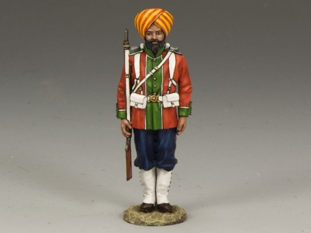 Ludhiana Sikhs Regiment Standing At Attention
