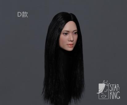Female Head long black Hair