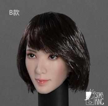 Female Head short black Hair