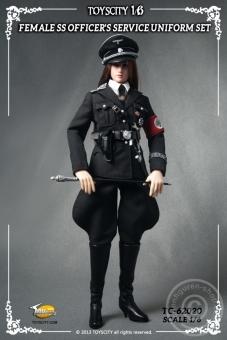 Female SS Officer - Black Uniform Set