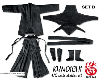 Kunochi Outfit Set - schwarz