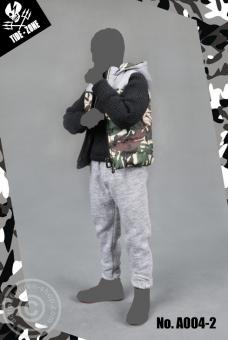 Camouflage Cotton Vest Suit - green