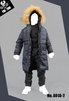 Cotton Coat Suit - blue/black
