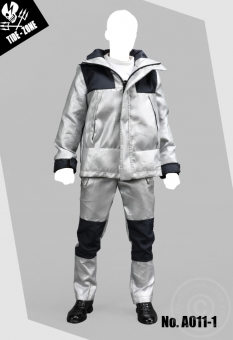 Technical Jacket Suit - silver