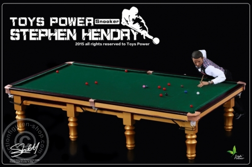 Snooker Player Hendry with Snooker Table