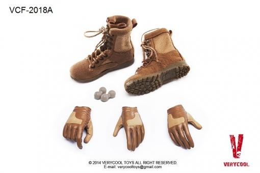 Female  Military Boots + Glove Hand Set A