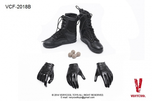 Female  Military Boots + Glove Hand Set B