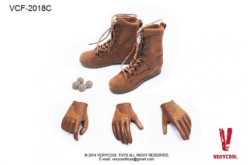 Female  Military Boots + Glove Hand Set C