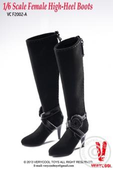 Stiefel, hoch - schwarz
