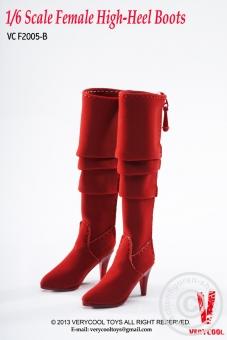 Stiefel, hoch - rot