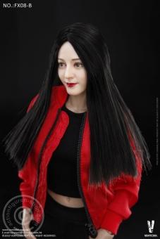Female Body with Head - black straight Hair