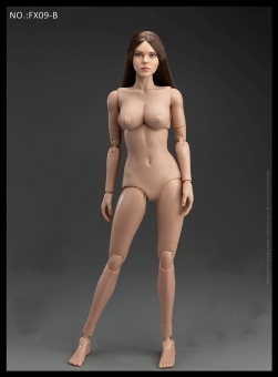 Female Body with Head - brown Hair - in 1/6 scale