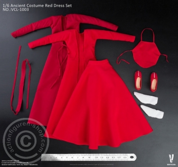 Ancient Costume Red Dress Set