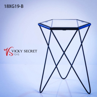 Fashion Metal Table - blue