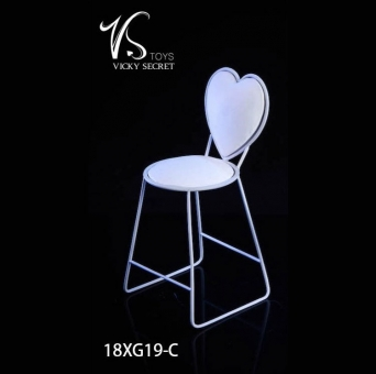 Fashion Metal Chair - white - Heart