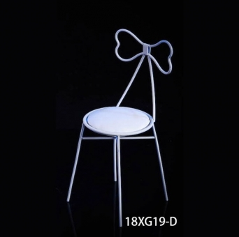 Fashion Metal Chair - white - Bow