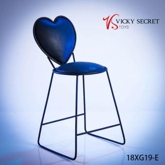 Fashion Metal Chair - blue - Heart