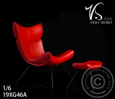 The Chair w/ Leg Rest - Red