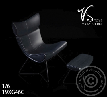 The Chair w/ Leg Rest - Black