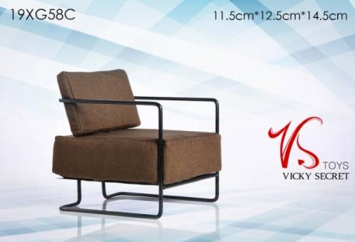 Design Armchair - brown
