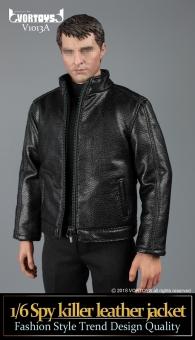 Spy Killer Leather Jacket (black) Set