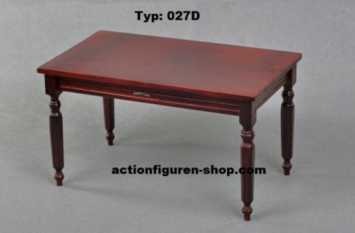Biedermeier Tisch 1, dunkel-rot-braun